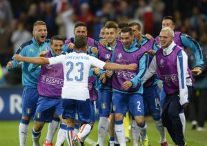 Euforia italiana sull'1-0