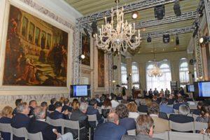 Una fase del convegno di Venezia