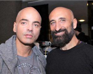 Gli stilisti e fondatori di Frankie Morello, Pierfrancesco Gigliotti e Maurizio Modica