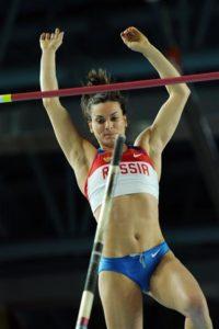 La supercampionessa russa di salto con l'asta Yelena Isinbayeva