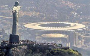 Lo Stadio Maracanà dove si svolgerà la cerimonia di apertura delle XXXI Olimpiadi