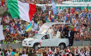 Papa Francesco alla 31a GMG di Cracovia