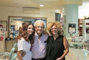 Tonino con la moglie Anna e la figlia Carmela