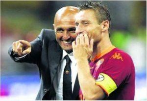 Luciano Spalletti ed il capitano Francesco Totti