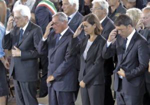 Ai funerali delle vittime presenti le massime autorità dello Stato