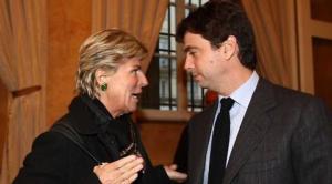 Evelina Christillin, neo consigliera Fifa, con Andrea Agnelli, presidente della Juventus