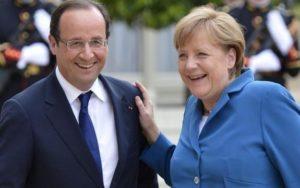 Merkel con il Presidente francese Hollande
