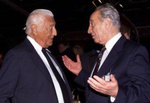 Shimon Peres con l'Avvocato Gianni Agnelli
