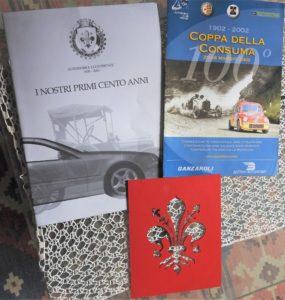 Le brochure dei centenari Aci e Consuma
