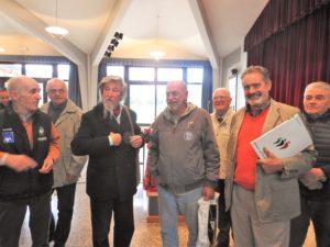 Toni Capuozzo e Giorgio Fornoni con alcuni amici monfortani
