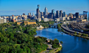 Una veduta di Philadelphia