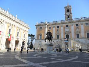 Il Campidoglio sede del Comune a Roma