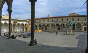 Piazza Santissima Annunziata una delle più belle d'Europa