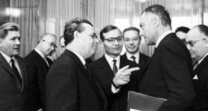 L'Avv. Agnelli con Nikolay Patolichev, ministro del Commercio Estero sovietico
