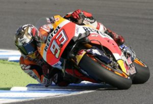 Marc Marquez in sella alla Honda