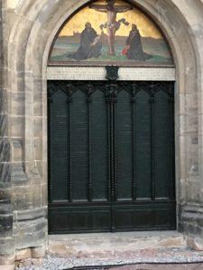 La porta della chiesa di Wittenberg