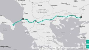 La mappa del tragitto del gasdotto