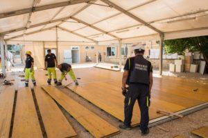 Il campo di accoglienza per i terremotati di Amatrice
