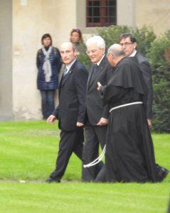 Il Presidente Mattarella in visita a S. Croce per il 50° dell'alluvione