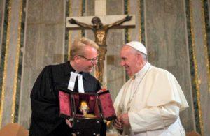 Papa Francesco nel recente viaggio in Svezia