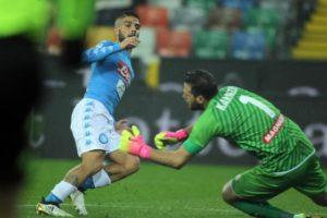 Insigne torna al gol in Udinese-Napoli