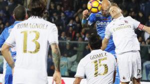 Il Milan espugna il Castellani e si porta a 4 punti, insieme alla Roma, dalla Juve