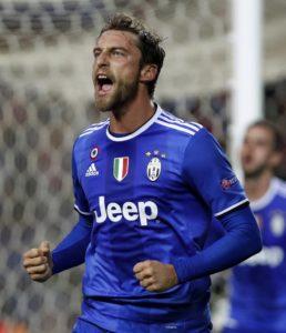 Il tripudio del principino Claudio Marchisio dopo il pareggio su rigore