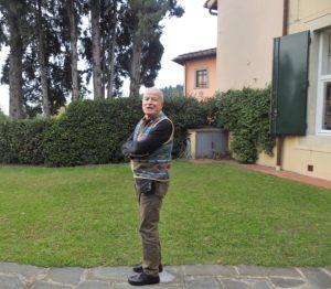 Franco Alessandri nella dimora a Settignano