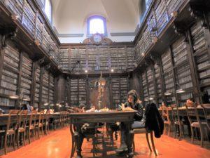 Il salone monumentale della Marucelliana