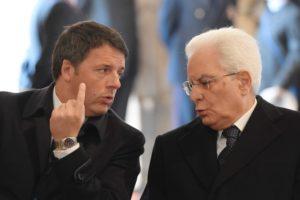Matteo Renzi e il Presidente Mattarella