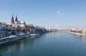 Basilea, il Reno e l'inverno