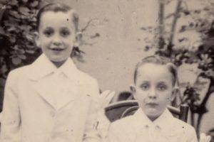 Con il fratello Oscar, il più piccolo