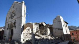 La Basilica di San Benedetto a Norcia distrutta dal terremoto del 26 ottobre
