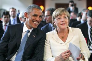 Obama con Angela Merkel