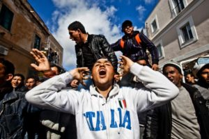 Italy - Illegal Immigration Crisis in Lampedusa